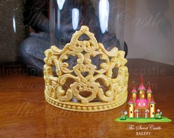 3D Edible Fondant Queen Tiara/Crown Cake Topper (Pearl Dust Finish)