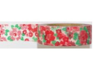 Washi Tape #187: red flowers floral