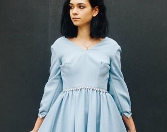 60s Baby Blue Sparkle Darling Dress