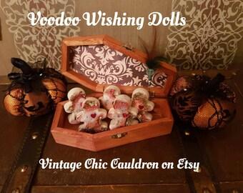 Voodoo Wishing Dolls & Voodoo Inscribing Pin ~ Wishing Magick, Wishing Wax Conjuring Balls, Wax Mojo Balls, Samhain Magick