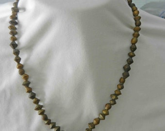 Vintage 1950's-60's African Brass Trade Bead Necklace w/Brass Bells