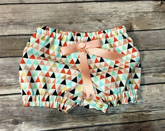 Aztec/colorful bubble shorts/bloomers.. Made to order.. Girls, infants, Toddlers
