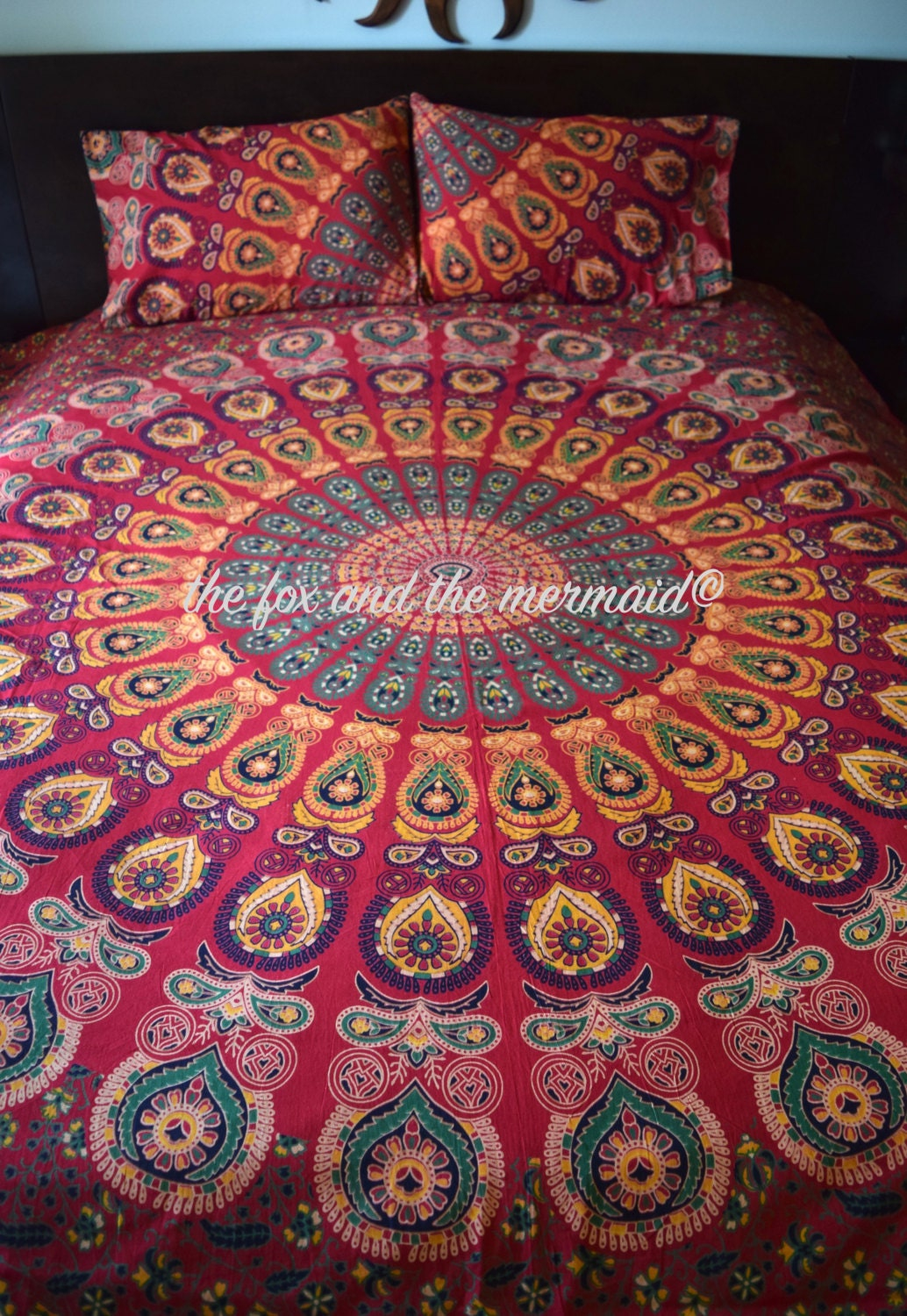 Mandala Duvet Cover And Pillowcases Indian By