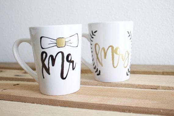 Wedding Gift Coffee Mugs : ... Mrs MugsWedding GiftCoffee MugsBride and Groom MugCute Mug