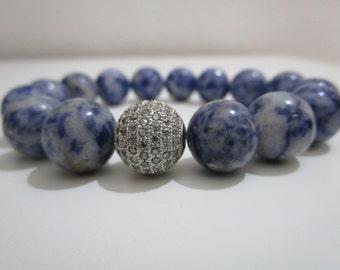 Sodalite, Sodalite bracelet, Natural stone jewelry, Bracelet, Womens bracelet, Stone bracelet, Gift, Gift for women, Jewelry, Womens gift