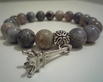 Agate bracelet bamboo