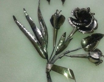 Vintage Sterling Silver Brooch and Matching Earrings