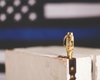 Personalized Stamped Bullet Keychain by Sass & Brass