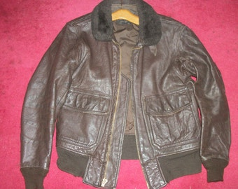 WWII G-1 Leather Bomber Pilot Flight Jacket-Size 40A - HUGE price reduction!!!!