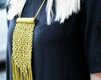 FREE SHIPPING / Handmade Necklace / Stylish Necklace / Macrame / Gift Idea by FabraModaStudio / A921