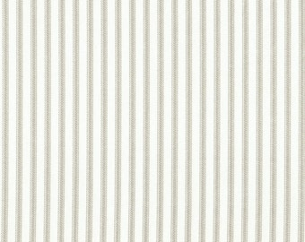 Decorative Pillow Pebble Taupe Ticking Stripe