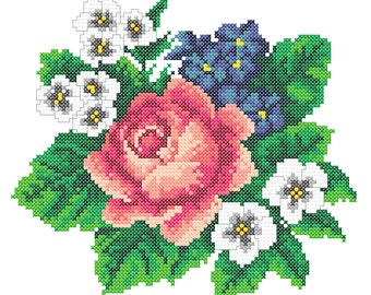 Machine Embroidery Roses