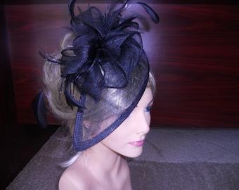 Black fascinator derby hat fascinator wedding hat
