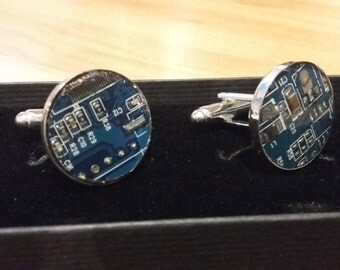 Upcycled Circuit Board Cufflink