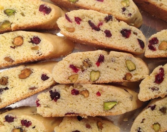 Cranberry,Pistachio,Lemon Biscotti-1 Pound Cookies-Soft Baked-Italian Cookies