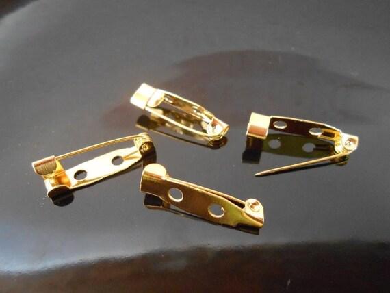10 gold brooch backs Bar pins Back bars Pin backs Brooch ...