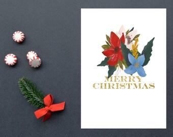 Merry Christmas, Christmas, Christmas Decoration,Holiday, 8x10 Instant Download, Printable artwork, Digital Art, Printable Wall Art