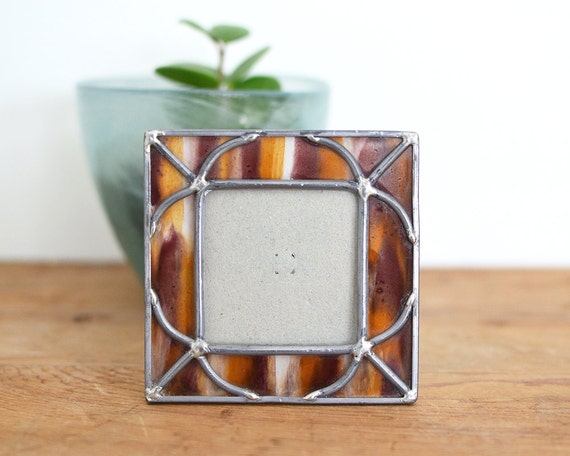 stained glass frame small vintage picture frame tiny. Black Bedroom Furniture Sets. Home Design Ideas