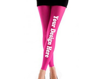 Personalized Tights,  Pantyhose Personalized, Opaque Pantyhose, Pick Your Size, Color and Design or Custom Text