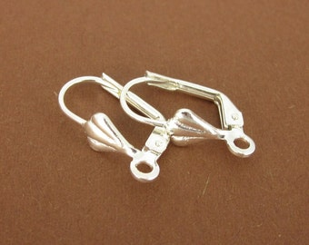 10 piece earring, decorated - silver