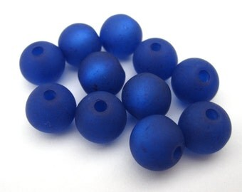 10 Polaris beads 8 mm - Royal Blue
