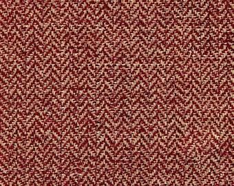SCALAMANDRE OXFORD HERRINGBONE Weave Chenille Jacquard Fabric 10 Yards Plum