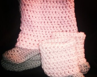 Crocheted Slipper-Boots