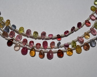 Multi Spinel Almond shape/size-3x4 to 4x6mm approx/3 strands/weight-66ct