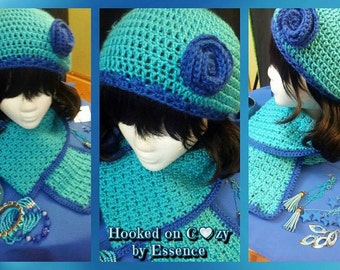 Made to Order Beret and Flower Set