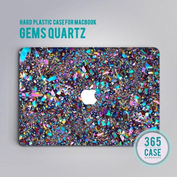 Gems quartz macbook case macbook air case macbook pro by for Housse macbook pro 13 pouces