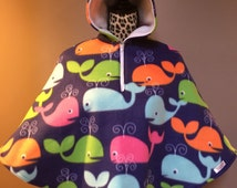 Car Seat Safe Poncho, Girl Poncho, Boy Poncho, Toddler Poncho, Car Seat Safe Coat/ Custom Made