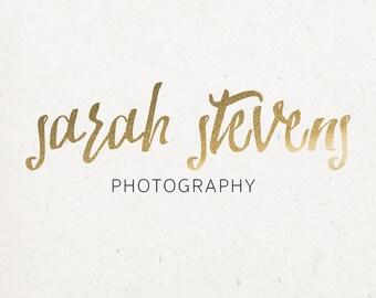 Gold Glitter Logo - premade photography logo, custom photography logo, logo design, small business logo, blog logo design