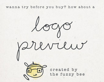 Logo Preview - premade logo preview, try before you buy logo