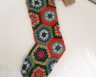 Crochet Christmas Stocking, Crochet Stocking, Holiday Stocking, Christmas Stocking, Holiday Decoration, Custom Stocking, Christmas Decor