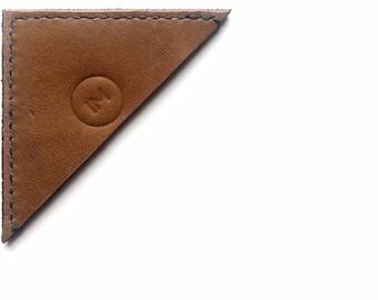 Leather Bookmark - Cognac