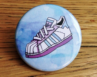 Adidas Sneaker Pinback Button Badge / Brooch 1.5 Inch (38mm)