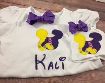 Matching Girl Doll Shirts;Dollie And Me;Vacation Shirts;Girl And Doll Clothes;18 Inch Doll Clothes;Custom Doll Clothes;Princess Doll Shirt