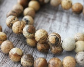 Picture Jasper 8mm Round Beads A Quality Gemstones Earthy Vibes