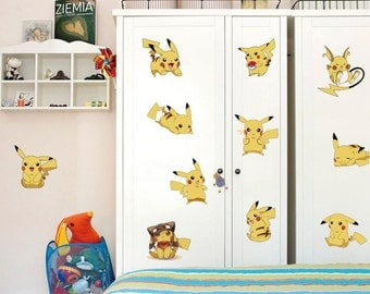 Pikachu electric pokemon wall decals