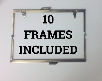 10 Open Channel Modern Purse Frames Color ANTIQUE GOLD 8' WITH Chain Loops