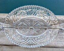 Cut Glass Divided Candy Dish