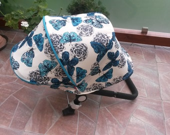 Custom Extendable Canopy Hood for Bugaboo Cameleon Buffalo Donkey, Orbit Baby G2 sunshade Dachbezug