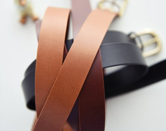 leather belt / belt / buttero belt / belts