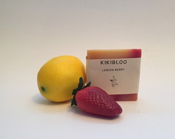 Lemon Berry Soap Vegan Cold Process Soap By kikibloo