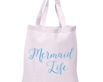 Reusable Tote, Mermaid Life, Grocery Bag