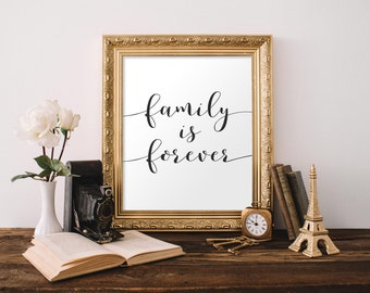 Family Printable Wall Art, Family is forever, family printable, family Quote printable, Home Decor, Printable Quote, Family wall art