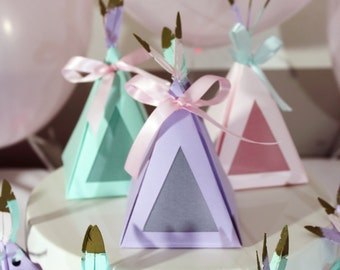 Teepee Party Favour Gift Boxes for Parties, Weddings, and Showers