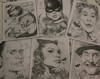 Classic Batman art prints 6-pack