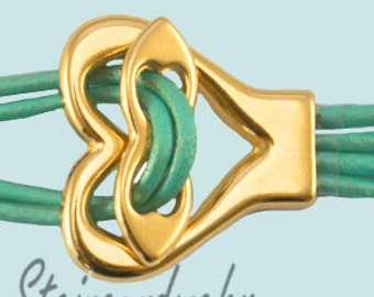 1 x lock toggle clasp gold plated Art2402