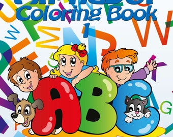 My First Alphabet Coloring Book 1